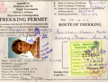 Restricted Area Trekking Permit in Nepal